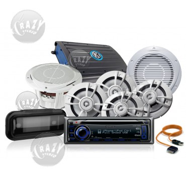 Complete Marine Audio System Package 2, by Crazy Deals