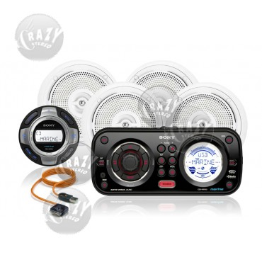 Marine Stereo-Speakers Combo 6, by Crazy Deals