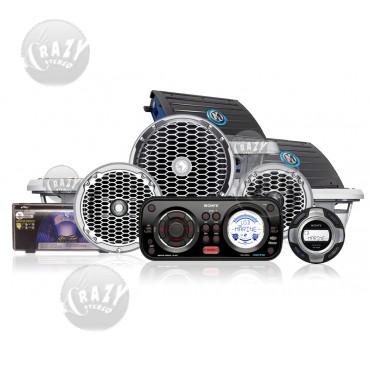 Complete Marine Audio System Package 6, by Crazy Deals