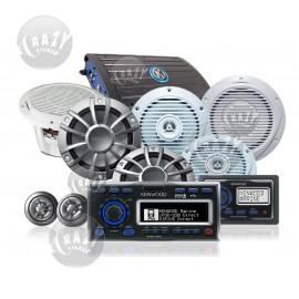 Complete Marine Audio System Package 3, by Crazy Deals